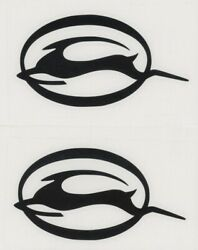 2x IMPALA Chevy 6quot; Black Decals Stickers for Car Windows Toolbox Garage...