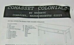 Nos Cohasset Colonials New Lebanon 2 Drawer Table Furniture Kit - Unassembled