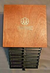 1976 Montreal Canada Xxi Olympics Sterling Silver 28 Coin Collection.