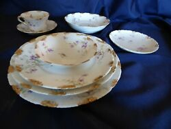 Antique Theo. Haviland China Service For 10. Good Condition.