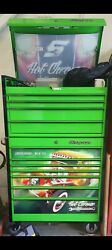 36 Masters Stack Extreme Green With Black Trims Snap On Tool Box 11 Drawers Hot