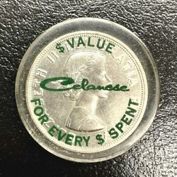 1964 Canada Charlottetown Silver Dollar In Celanese Chemical Advertising Lucite