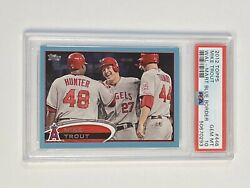 2012 Topps Mike Trout 446 Wal Mart Blue Parallel Sp Psa 10 Pop 3 Rare