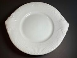 Royal Copenhagen White Fluted Half Lace Oval Plate Dish Denmark 422 Excellent