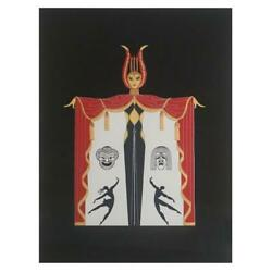 Erte Broadway In Fashion Serigraph Signed And Numbered Comes Framed With Coa