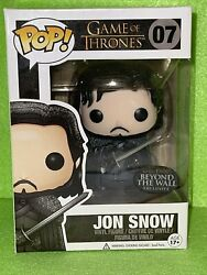 Funko Pop Jon Snow 07 Game Of Thrones Beyond The Wall Exclusive Vaulted