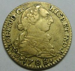 1788 Madrid 1 Escudo Charles Iii Gold Spain Doubloon Spanish Colonial Era