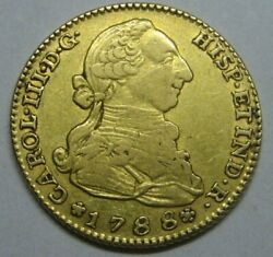 1788 Madrid 2 Escudos Charles Iii Beautiful Gold Doubloon Spanish Colonial Era