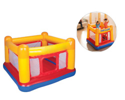 Inflatable Kids Bouncer House Safety Jumping Ring Playground Red/yellow 2 Player
