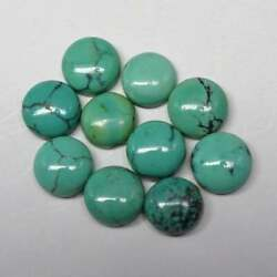 Natural Tibetan Turquoise Loose Gemstone 21mm To 25mm Round Cabochon Aaa Quality