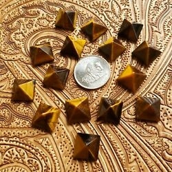 Natural Tiger Eye Loose Gemstones Square Shape Facted Cut Size In 16mm To 20mm