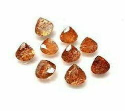 Natural Sunstone Heart Faceted Cut Loose Gemstone 6x6mm To 10x10mm High Quality