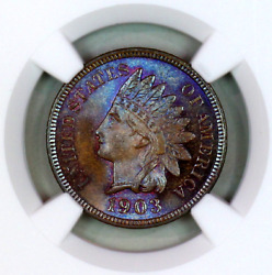 1903 Ms66+ Bn Ngc Indian Head Penny Premium Quality Superb Eye-appeal