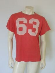 Vintage 1960s Red Champion Running Label Tee Shirt Jersey Size Large