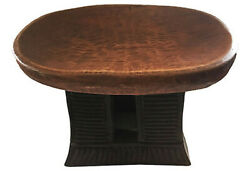 Superb African Bamun Low Milk Stool Cameroon 16.25 W By 12 H