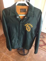 Vintage 1960s Green Bay Packers Jacket Lined Vince Lombardi Era Size Large