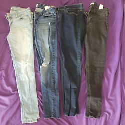 Womens Hollister Jeans Size 7 W28 L31 Lot Of 4 Good Condition