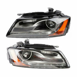 Pair Valeo Headlight Assembly For Audi A5 Quattro And S5 2008 2009 2010 2011