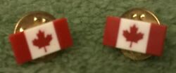 Pin A Pair Of Canadian Flag The Maple Leaf Cufflinks/pins/tie Pins/tie Tacks