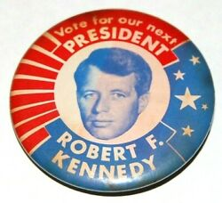 1968 Robert F. Kennedy Bobby Rfk Campaign Pin Pinback Button Badge Political
