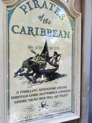 16x28 Disneyland Pirates Of The Caribbean 1967 Attraction 50th Sign Prop Potc