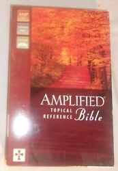 Amplified Topical Reference Bible Black Bonded Leather New Never Used Zondervan