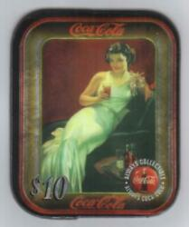 Coca-cola And03996 10 Die-cut Aluminum Coke Trays Set Of 3 Different Phone Card