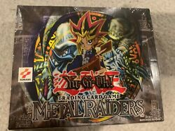 Yu-gi-oh Metal Raiders Factory Sealed Booster Box 24 Packs In The Box.