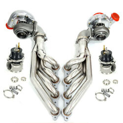 Ar.80/.96 Turbo+exhaust Manifold+elbow Adapte+wastegate For Ls1 Ls2 Small Block