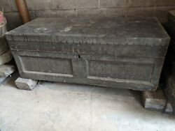 Wooden Tool Box Chest Antique 20and039s-30and039s