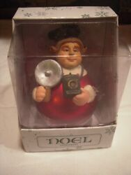 Rare Department 56 Noel Ornament Blown Glass And Resin Photographer