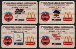 Ronald Mcdonald House Coca-cola Frank And Sons Set Of 4 Coke Proof Phone Card