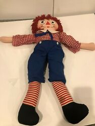 Raggedy Andy Plush Raggedy Anne And Andy Doll 31 Jumbo Large Over 30 Very Rare