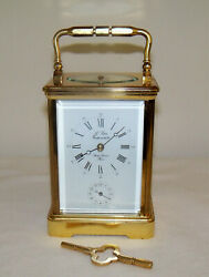 Late 1900s French L'epee Repeater Alarm Carriage Clock - Excellent, Working