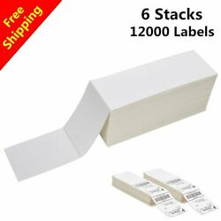 12000 Fanfold 4 X 6 Direct Thermal Shipping Labels -zebra 2844 Usps Fedex Fast