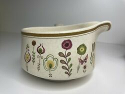Temper Ware By Lenox, Gravy Boat, Sprite Design With Floral Accents