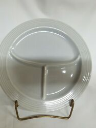 Vintage Fiesta Compartment Divided Grill Plate Grey 10 1/2 Euc