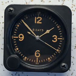 Us Army P-51 Mustang Elgin 8 Jewel A-11 Aircraft Clock Brown Numbers Hands
