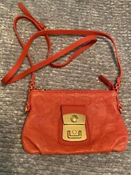 *RARE* NWOT Marc By Marc Jacobs Leather Crossbody Bag Orange $198.00