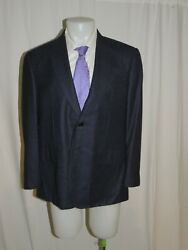 Lutwyche Bespoke Mto Blue Speckled Flannel Two Button Sport Coat 42.5 8300