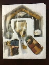Midwest Of Cannon Falls Hand-painted Nativity Scene Christmas
