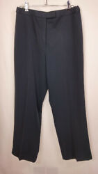 Sag Harbor Women's Waist 32 Dark Gray High Rise Button And Zip Relaxed Fit