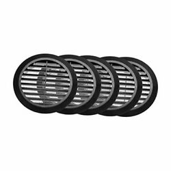 4and039and039 Inch Black Soffit Vent Cover - Round Air Vent Louver - Grill Cover - 5