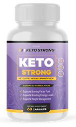 Official Keto Strong Advanced Formula 1 Bottle Package 30 Day Supply