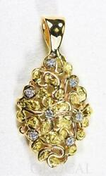 Gold Nugget Pendant Orocal Pn239d14x Genuine Hand Crafted Jewelry - 14k Gold Y