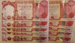 100k Authentic Iraqi Dinars 4andtimes25k Crisp Banknotes Flawless 2013 New Security