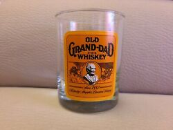 Glass Rare Old Grand Dad Whiskey Lowball Glass Heavy Bottom.