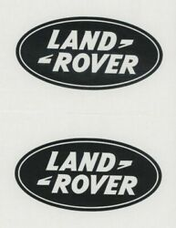 2x LAND ROVER 6quot; Black Decals Stickers for Racing SUV Trucks Windows...