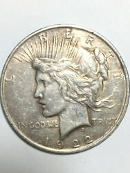 1922 Peace One Dollar 1 United States Coin Ap1085882