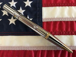 Majestic Squire Chrome, Nickel, And Gold Plated Twist Pen Unique Unusual